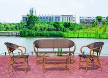 SF124 Rattan Cheap Bamboo outdoor furniture