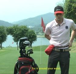 Helix Wholesale Custom LOGO Mini Golf Ball Bag With 100% Nylon Material