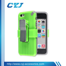 China wholesale color change back cover for iphone 5/5C with detachable support clip