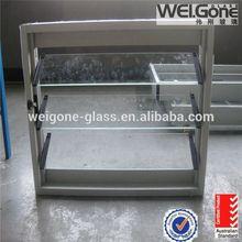 Safe internal blind window glass