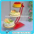 Chers personnalisé titulaires acrylique gâteau de mariage gâteau acrylique stand titulaire pour la fête d'anniversaire de bonne qualité