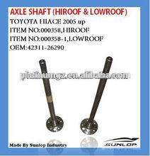 kdh200 hiace part axle shaft #42311-26290 axle shaft for hiace 2005 up hiace200