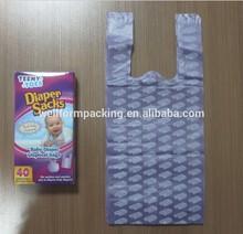 Plastic disposable scented diaper nappy bag