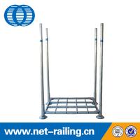 Industrial warehouse storage steel stacking rack pallet