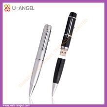 2014 Hot Sale Innovative Custom 2.0 1GB-64GB Promotional 1GB Silver Metal Cover Pen Shape USB Flash Drive