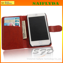 "new coming mobile phone leather case for iphone 6 wallet leather case 4.7"" for iphone 6"