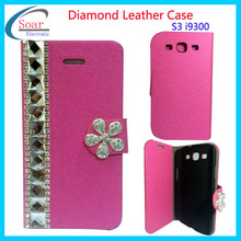 2014 factory design new brand for your phone mobile phone leather flip phone cases for galaxy s3