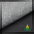 blanco y negro mezcla de lana de la gracia de tejido de espina de pescado