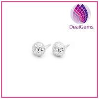 Popular 925 sterling silver fashion bollow ball earring