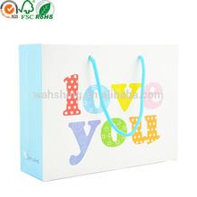 "Cute design ""love you "" printed kids' birthday gift packaging bag"