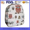 Popular Pattern Chevron Striped Printed Fashion Cute School Bag For Child Kids Owl Backpack