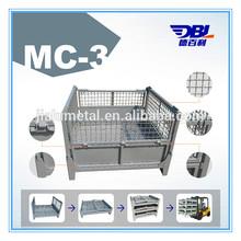 industrial square wire mesh storage box,bulk container