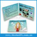 "2014 popolare 3.5"" video foto carte di brochure, pubblicità scheda video di auguri, brochure display video lcd"