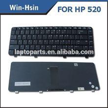 Best sell laptop keyboard black key for hp 520 us keyboard