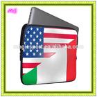 chequered flag black neoprene laptop sleeve