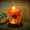 2014 new product china manufacturers 8 inch flameless plastic witch waterflooding led candle for halloween