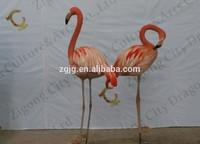 Theme park life size fiberglass animals decoration flamingo