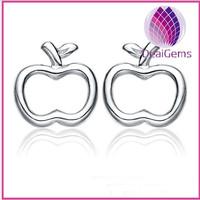 Latest fashion apple 925 silver earrings
