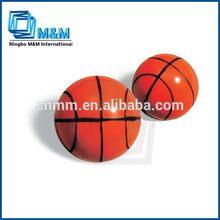 Basketball Printed Bouncing Ball Hair Hair Rubber Ball