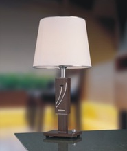 SASO dubai natural wooden table lamp with luxury lamp shde for inn or vacational village