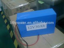 12V30AH LiFePO4 Battery, 2000cycles PVC Lifepo4 12V30Ah battery pack, portable LIFEPO4 BATTERY PACK 12V 30AH with BMS