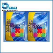 Goma de borrar puzzles/rompecabezas baratos promoción de dibujos animados de goma de borrar