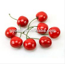 Standard Size Cherries Decorative Plastic Artificial Fake Fruit