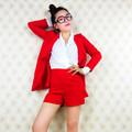 C83100a europeia moda mulheres 3 peças conjuntos/terno senhora coat+shorts conjuntos