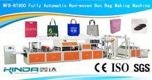 WFB-BT600 non-woven bag making machine with online handle attach
