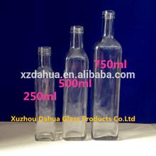 250ml 500ml 750ml Capacity Olive Oil Glass Bottle