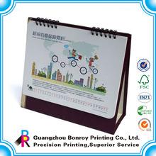 Full color printed 2014 custom design folded desk calendar