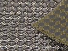 silver trim pvc bags vinyl bags with plastic snap Diamond Mesh Decorative Rhinestone