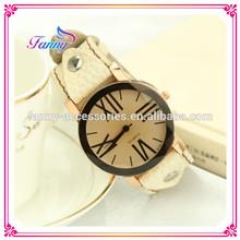 S003 Wholesale Fashion Women Leather Wrap Eiffel Tower Watch Beaded Bracelet Watch Wrist Watch