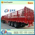 3-- المحور 50-60tons الماشية/ نقل المواشي شريط مخزن/ شاحنة نصف مقطورة حصان للبيع