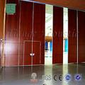 utiliza puertas corredizas de vidrio venta móvil sistema de panel de decoración de la pared insonorizadas panel acústico de la puerta