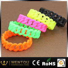 Hot Selling Promotion Rainbow Silicon Wrist Rubber Band Bracelet