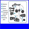 Full duplex 3 Rider Motorcycle Helmet Headset BT Interphone with 500m Intercom