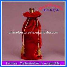 Wholesale superior quality custom cheap velvet wine bags