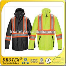 flame retardance&waterproof hi visible &anti-UV jackets for safety wear