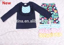 Girlstutu. En toptan çin tedarikçisi yeni tasarımcı marka köylü tarzı fırfır pantolon ucuz bebek tığ bebek giysileri örme