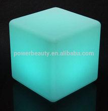 illuminated led cube seat lighting Coffee Club& tea house