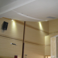 home theater acoustic panel for school mdf grooved sound absorbing wall paneling