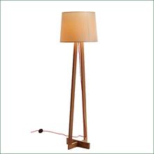 Large Artistic Wooden Floor Lamp Adjustable Wood Floor Lamp