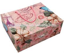 Big flower pattern print on paper shopping bag paper gift bag shopping tote bag