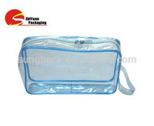 Portable Cosemetic Bags Clear PVC Cosmetic Zipper Bags