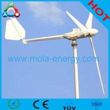 1kw eixo horizontal do vento geradores de energia wih 3 fase pmg
