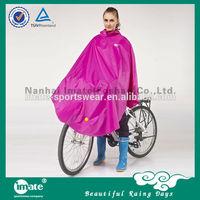 High quality polyester bicycle rain poncho