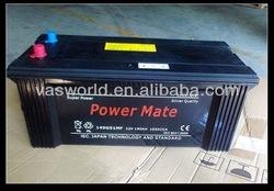 Hot sale item 12V 150AH N150 jis mf auto battery