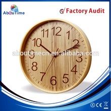 12 inch home decor wood wall clock/Wooden RCC movement wall clock/Radio control clock