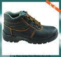 superior de cuero zapatos de trabajo de seguridad en el trabajo de la pu calzado zapatos de la inyección con el ce certificado